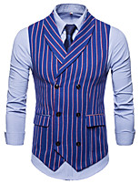 cheap -The Great Gatsby Retro Vintage Medieval Vest Men's Cotton Costume Blue / Navy Blue Vintage Cosplay Party Halloween Sleeveless