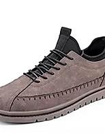 Недорогие -Муж. Комфортная обувь Полиуретан Осень Кеды Серый / Коричневый