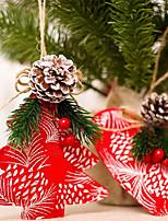 Недорогие -Рождественские украшения Новогодняя тематика деревянный / Ткань / пластик Для вечеринок Рождественские украшения