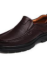 Недорогие -Муж. Кожаные ботинки Кожа Осень Винтаж / На каждый день Мокасины и Свитер Массаж Черный / Коричневый