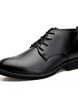 Недорогие -Муж. Fashion Boots Полиуретан Осень Ботинки Черный / Для вечеринки / ужина