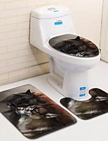 Недорогие -3 предмета Modern Коврики для ванны 100 г / м2 полиэфирный стреч-трикотаж Новинки нерегулярный Ванная комната Cool