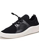 Недорогие -Муж. Комфортная обувь Сетка / Полиуретан Осень На каждый день Кеды Нескользкий Черный