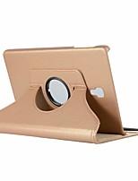 Недорогие -Кейс для Назначение SSamsung Galaxy Tab A2 10.5(2018) со стендом / Флип / Поворот на 360° Чехол Однотонный Твердый Кожа PU для Tab S4 10.5 (2018)