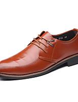 Недорогие -Муж. Официальная обувь Полиуретан Осень Деловые Туфли на шнуровке Дышащий Черный / Коричневый