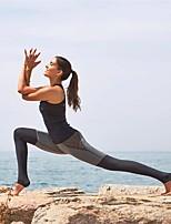 abordables -Femme Mosaïque Pantalon de yoga - Noir combiné Des sports Quadrillé / Guingan Collants Fitness Tenues de Sport Séchage rapide, Anti-transpiration Haute élasticité Slim / Hiver
