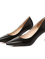 Недорогие -Жен. Балетки Овчина Осень Обувь на каблуках На шпильке Черный / Хаки