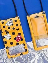Недорогие -Жен. Мешки PU Мобильный телефон сумка Узоры / принт Геометрический принт Черный / Желтый / Черно-белый