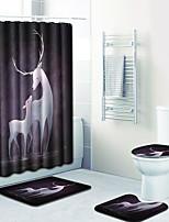 Недорогие -1 комплект Modern Коврики для ванны 100 г / м2 полиэфирный стреч-трикотаж Животное Прямоугольная Ванная комната Cool