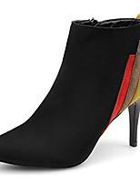 Недорогие -Жен. Fashion Boots Полиуретан Осень Ботинки На шпильке Заостренный носок Черный / Для вечеринки / ужина