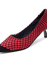 Недорогие -Жен. Обувь для новинок Полиуретан Осень На каждый день Обувь на каблуках На каблуке-рюмочке Заостренный носок Черный / Желтый / Красный / Повседневные