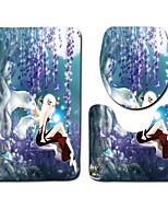 Недорогие -3 предмета Modern Коврики для ванны 100 г / м2 полиэфирный стреч-трикотаж Креатив нерегулярный Ванная комната Очаровательный