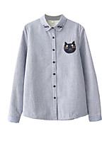 Недорогие -женская хлопчатобумажная рубашка - мультяшная рубашка