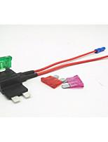 Недорогие -держатель плавкого предохранителя вставки для автомобиля / автомобильная вставка предохранитель зарядное устройство / 2-контактный плавкий предохранитель двусторонний провод 3