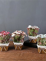 Недорогие -Искусственные Цветы 1 Филиал Классический / Односпальный комплект (Ш 150 x Д 200 см) Простой стиль / Modern Хризантема / Ваза Букеты на стол