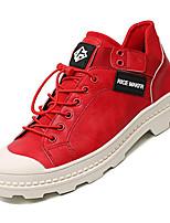 abordables -Homme Chaussures de confort Polyuréthane Automne Décontracté Basket Ne glisse pas Couleur Pleine Blanc / Noir / Rouge