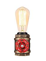 Недорогие -старинная водопроводная столовая лампа промышленного кованого железа с e26 / e27 edison base ретро чердак украшение для гостиной прикроватная лампа