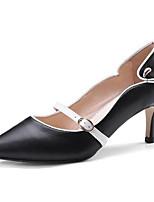 Недорогие -Жен. Комфортная обувь Наппа Leather Весна Обувь на каблуках На шпильке Белый / Черный / Коричневый