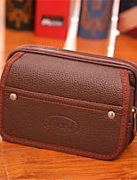 Недорогие -Муж. Мешки PU Мобильный телефон сумка Сплошной цвет Черный / Кофейный