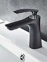 abordables -robinet évier de salle de bain - robinetterie pour le bain monotrou à monocommande à mélangeurs en bronze huilé
