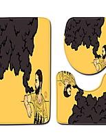Недорогие -3 предмета Modern Коврики для ванны 100 г / м2 полиэфирный стреч-трикотаж Креатив / В полоску нерегулярный Ванная комната Cool