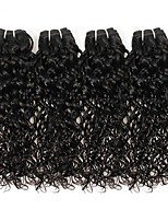 Недорогие -4 Связки Бразильские волосы Вьетнамские волосы Волнистые Натуральные волосы Необработанные натуральные волосы Подарки Косплей Костюмы Человека ткет Волосы 8-28 дюймовый Естественный цвет / Без запаха