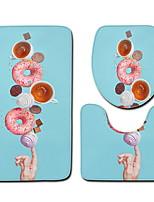 Недорогие -3 предмета Традиционный Коврики для ванной 100 г / м2 полиэфирный стреч-трикотаж Креатив Прямоугольная Ванная комната Очаровательный / обожаемый