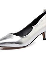 baratos -Mulheres Sapatos Confortáveis Couro Ecológico Primavera Saltos Salto Baixo Prata / Rosa claro