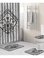 Недорогие -1 комплект На каждый день Коврики для ванны 100 г / м2 полиэфирный стреч-трикотаж Новинки Прямоугольная Ванная комната Творчество
