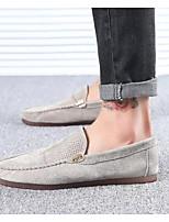 Недорогие -Муж. Комфортная обувь Свиная кожа Лето Мокасины и Свитер Черный / Хаки