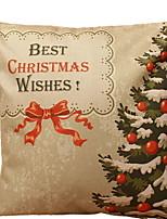 baratos -Cobertura de Almofada Natal Algodão Quadrada Novidades Decoração de Natal