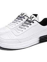 Недорогие -Муж. Комфортная обувь Полиуретан Осень Кеды Красный / Черно-белый / Белый / синий