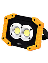 Недорогие -HKV 1шт 10 W LED прожекторы Новый дизайн Холодный белый 5 V Уличное освещение 2 Светодиодные бусины