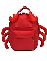 Недорогие -Жен. Мешки холст рюкзак Молнии Красный