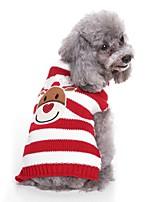 baratos -Cachorros Súeters Roupas para Cães Bordados Elegantes / Tingido / Personagem Preto / Vermelho Terylene Ocasiões Especiais Para animais de estimação Unisexo Estilo Romântico / Casual