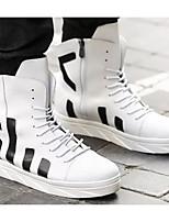 Недорогие -Муж. Комфортная обувь Полиуретан Наступила зима Кеды Белый / Черный / Красный