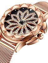 Недорогие -Жен. Наручные часы Кварцевый Имитация Алмазный сплав Группа Аналоговый На каждый день Мода Розовое золото - Розовое золото / Нержавеющая сталь
