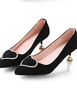 Недорогие -Жен. Комфортная обувь Замша Зима Обувь на каблуках На шпильке Черный / Синий / Розовый
