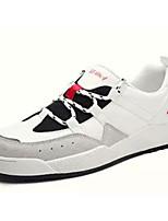 Недорогие -Муж. Комфортная обувь Полиуретан Весна & осень Кеды Белый / Черно-белый