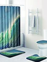 Недорогие -1 комплект На каждый день Коврики для ванны 100 г / м2 полиэфирный стреч-трикотаж Новинки Круглый / нерегулярный / Прямоугольная Ванная комната обожаемый
