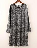 Недорогие -женский выход тонкий свитер платье midi