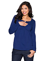 Недорогие -женская футболка с размерами по размеру - сплошная цветная шея