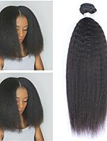 billiga -6 paket Peruanskt hår Yaki Rakt Äkta hår / Obehandlat Mänsligt hår Presenter / Human Hår vävar / Favör för Tebjudningar 8-28 tum Naurlig färg Hårförlängning av äkta hår Liv / Mjuk / Heta Försäljning