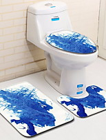 Недорогие -3 предмета Modern Коврики для ванны 100 г / м2 полиэфирный стреч-трикотаж Креатив Овал / Прямоугольная Ванная комната Новый дизайн