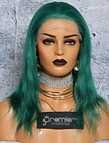 Недорогие -Не подвергавшиеся окрашиванию Полностью ленточные Парик Бразильские волосы Шелковисто-прямые Парик Глубокое разделение С конским хвостом 150% Плотность волос / с детскими волосами