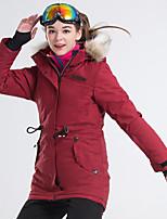 abordables -LanLaKa Femme Veste de Ski Pare-vent, Etanche, Garder au chaud Ski / Snowboard / Sports d'hiver Polyester Veste d'Hiver Tenue de Ski