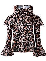 Недорогие -женская хлопчатобумажная футболка - шелка для леопарда