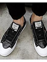 Недорогие -Муж. Комфортная обувь Полиуретан Лето Кеды Белый / Черный