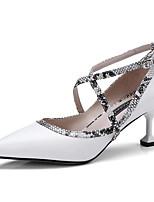 Недорогие -Жен. Балетки Наппа Leather Весна Обувь на каблуках На шпильке Черный