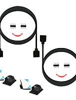 abordables -ZDM® 2pcs 100 cm 3528 SMD / SMD 2835 / SMD 5050 Accessoire de feuillard / Ligne d'extension de bande LED Câble électrique Plastique et métal pour la lumière de bande de LED RVB